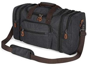 Brand new- Canvas Duffle Bag for Travel, 50L Duffel Bag(Dark Gray) for Sale in Nashville, TN
