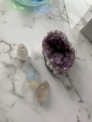 Raw Stones Amethyst Quartz Moonstone for Sale in New York, NY