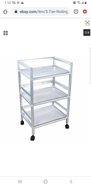3 Tier Rolling Trolley Cart Shelves Hair Beauty Salon Spa Storage Tool Organizer for Sale in Lakewood, CA