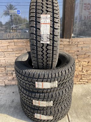 275/65R18 FOUR BRAND NEW TIRES , INSTALLATION & BALANCING INCLUDED for Sale in Fontana, CA