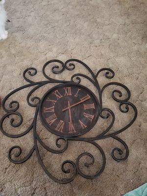 Iron clock for Sale in San Angelo, TX