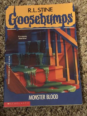 Goosebumps - monster blood vintage book by R. L. Stine. First scholastic printing September 1992 for Sale in Phoenix, AZ