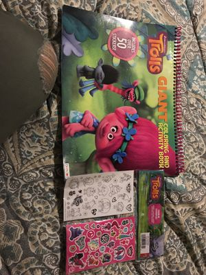 Trolls activity book and stickers for Sale in Mint Hill, NC
