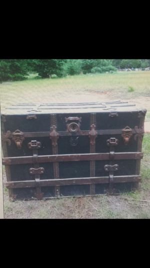 Old antique chest on rollers for Sale in Gaston, SC