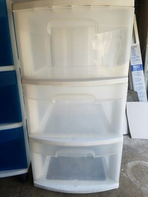 Plastic storage drawers $10.00 for Sale in Rolling Hills Estates, CA