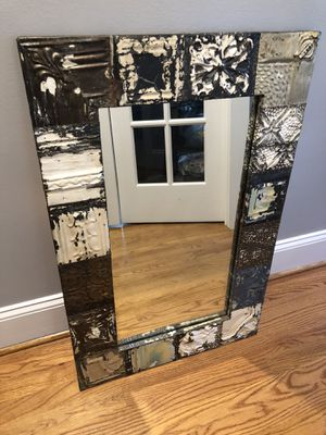 Antique Designer Mirror With Reclaimed Tile Frame for Sale in Raleigh, NC