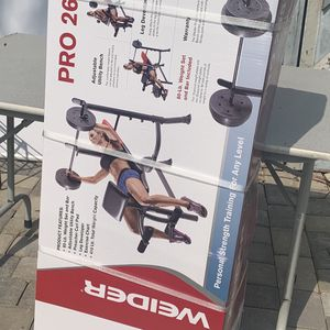 80 lbs Weider weight bench press set for Sale in Los Angeles, CA