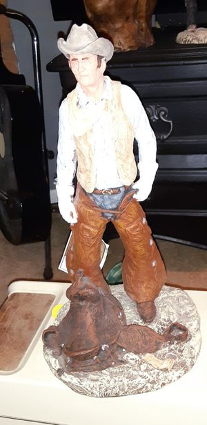 Vintage Porcelain John Wayne Statue Figurine Collectible by Daniel Monfort for Sale in Glendale, AZ