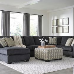 NEW, EXTRA LARGE U SHAPPED, RAF CORNER CHAISE SECTIONAL, SLATE COLOR. for Sale in Santa Ana,  CA
