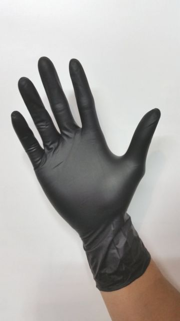 Black Nitrile ( Powder Free ) Disposable Gloves