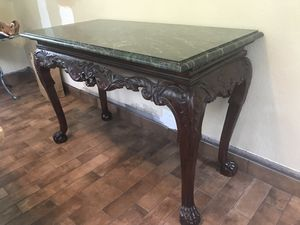 Console table with green marble top for Sale in Summit, NJ
