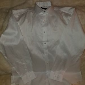 Calvin Klein-button down dress shirt Size 17-Slim Fit Color-White New without tag for Sale in St. Louis, MO