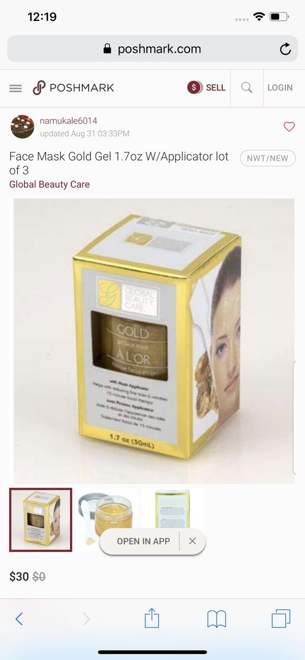 Global Beauty care gel face mask