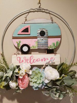 "14"" Welcome Camper Wreath for Sale in Acworth, GA"
