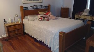 $100 OBO Queen size bed frame and furniture. Will throw in mattress which is less than 3 years old. for Sale in Safety Harbor, FL