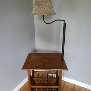 Table / Magazine Rack / Lamp for Sale in West Linn, OR