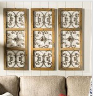 Wood and Metal Wall Decor- 1 panel for Sale in Malden, MA