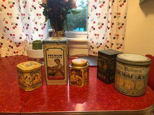 Assorted vintage tins for Sale in Virginia Beach, VA