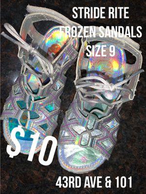 Size 9 Frozen Sandals by Stride Rite for Sale in Glendale, AZ