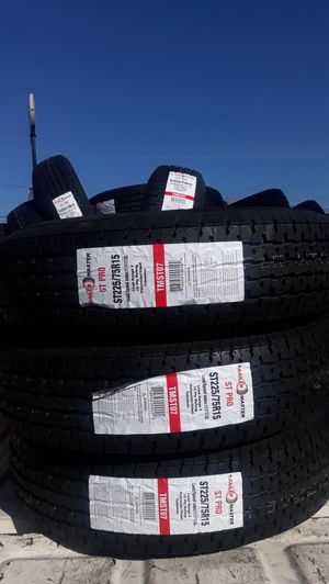st225 75 r15 trailers tires 4pcs 10ply $260 for Sale in Chino, CA