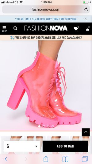 Brand New in Box* Hot Pink Booties/Boots Halloween Costume Fun Fashion Nova 8.5 for Sale in Portland, OR