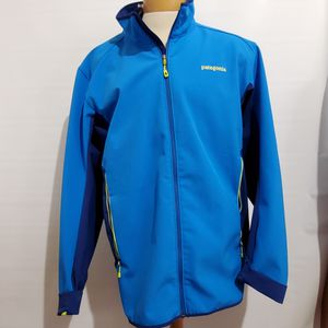 Patagonia Polartec Full Zip Soft Shell Jacket Blue Mens Size Extra Large XXL for Sale in La Grange Park, IL