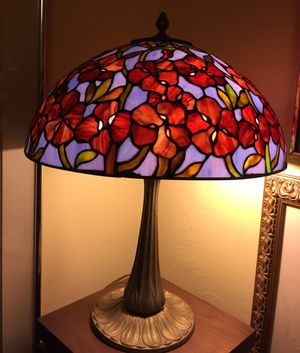 Antique stained glass Tiffany style table lamp. Please check my other items for Sale in Coral Gables, FL