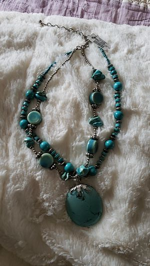 Chicos Turquoise faux brand new necklace for Sale in Bowling Green, MO