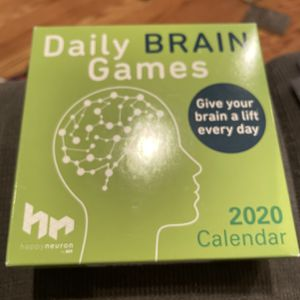 Daily Brain Games 2020 calendar for Sale in Holmdel, NJ