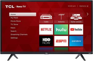 """Like new TCL Roku 40"""" LED Smart TV with remote and stand for Sale in Seattle, WA"""