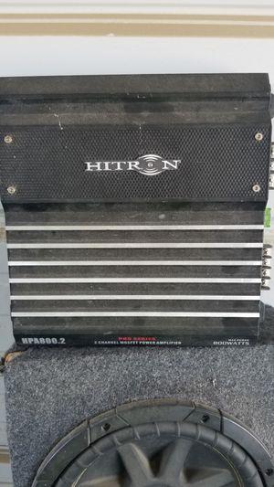 Hitron 800 watt 2 channel amplifier amp for Sale in Frazier Park, CA