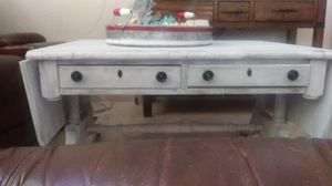 White and gray table with two opening sides for Sale in Goodyear, AZ