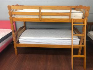 TWIN/TWIN WOODEN BUNK BED 🛌!! BRAND NEW LOW PRICE for Sale in Cleveland, OH