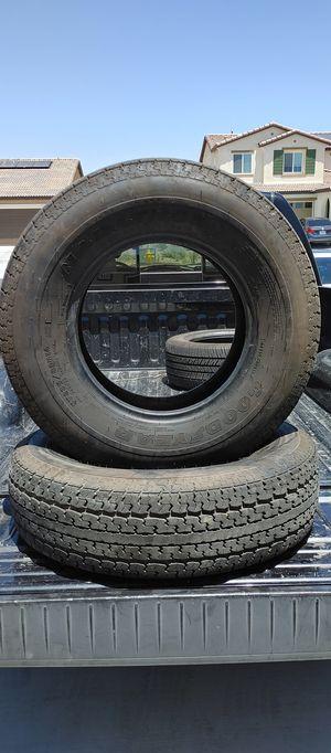 St235/80/r16 trailer tires en muy buenas condiciones bonitas y baratas 👌🎈🎈🎈🙂👍 for Sale in Adelanto, CA