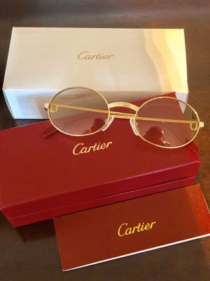 Unisex Gold Frame Cartier Glasses! W/Box + Booklets ! Serious buyers only ! for Sale in Silver Spring, MD
