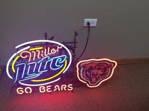 Miller Lite Go Bears Neon Sign for Sale in Roanoke, IL
