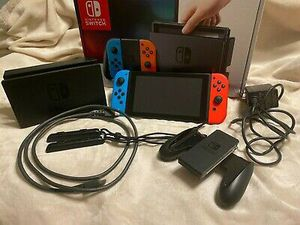 Nintendo Switch Red & Blue JoyCons Portable Gaming Console, HAC-001 in Box for Sale in Avondale Estates, GA