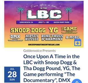 LBC VIP Ticket for Sale in South Gate, CA