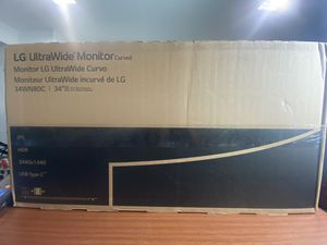 BRAND NEW LG ULTRAWIDE WQHD USB C MONITOR for Sale in Victorville, CA