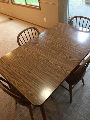 Kitchen table with 4 chairs for Sale in Renton, WA