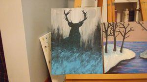 Deer in the winter brush for Sale in Rhinelander, WI