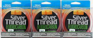 3 Silver Thread fluorocarbon fishing line 200 yds ZFC1000200 10 lbs 4 baitcaster baitcast or spinning reel for Sale in Litchfield Park, AZ