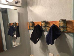 Mason jar bathroom storage. for Sale in Zephyrhills, FL