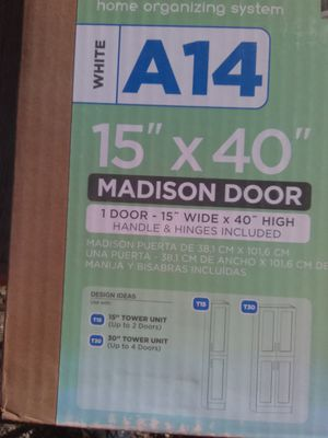 Modified cabinet Madison Door 15 x 40 White for Sale in Las Vegas, NV