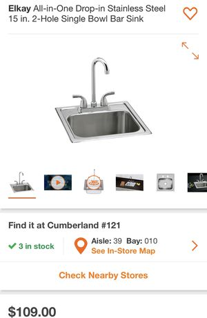 15 inch sink for Sale in Austell, GA