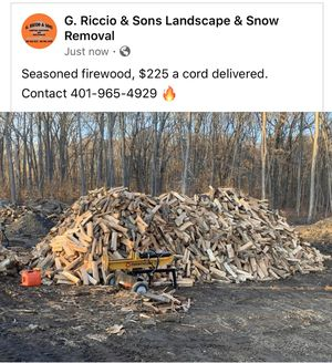 Seasoned firewood!!!!!! End of season discount!!! for Sale in Cranston, RI