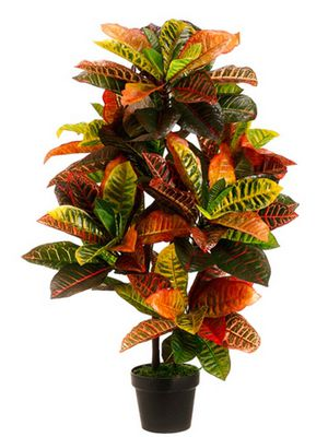 🍂 BRAND NEW ARTIFICIAL 3' CROTON OUTDOOR UV TOPIARY TREE BUSH PALM IN POT POOL 5 7 6 4 PATIO for Sale in Los Angeles, CA
