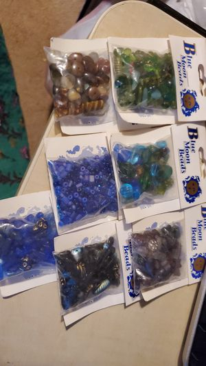 Lot of Blue Moon Glass Beads for Sale in Indian Land, SC