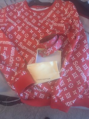 Supreme Louis Vuitton shirt and belt for Sale in Romulus, MI