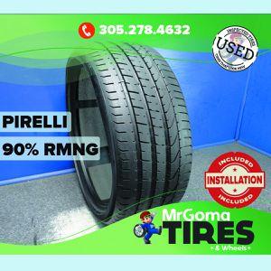 1 PIRELLI P ZERO R01 PNCS XL 285/30/21 USED TIRE 90% RMNG NO PATCH PZERO 2853021 for Sale in Miami, FL